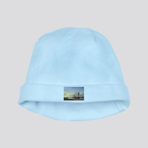 Dutch Fishing Vessels in a Calm at Sunset baby hat