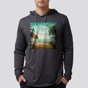Vintage Beach Mens Hooded Shirt