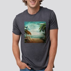 Vintage Beach Mens Tri-blend T-Shirt