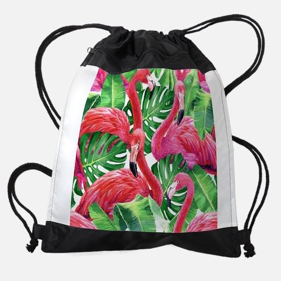 Flamingo Drawstring Bag