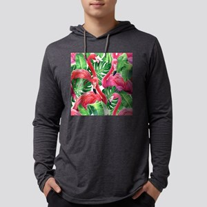 Flamingo Mens Hooded Shirt