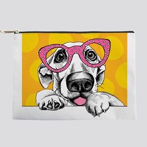 Hipster Dog Makeup Pouch