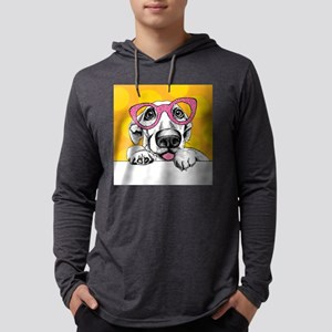 Hipster Dog Mens Hooded Shirt
