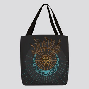 Sun and Moon Polyester Tote Bag