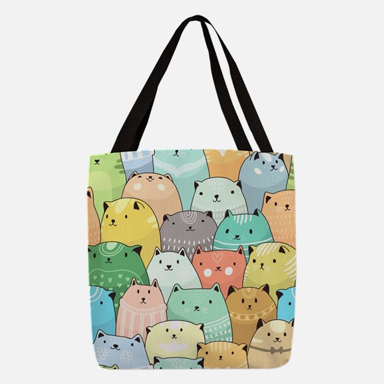 Cute Cats Polyester Tote Bag