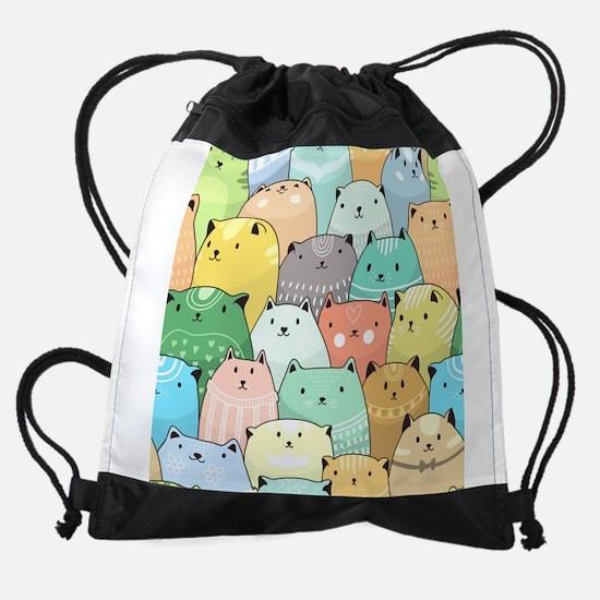 Cute Cats Drawstring Bag