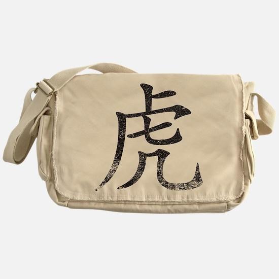 Tiger Kanji Messenger Bag