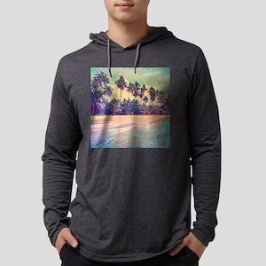 Tropical Island Mens Hooded Shirt