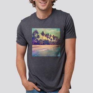 Tropical Island Mens Tri-blend T-Shirt