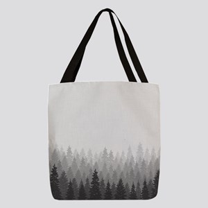 Gray Forest Polyester Tote Bag