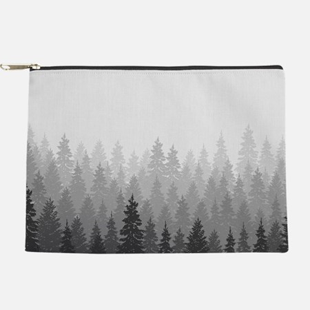 Gray Forest Makeup Bag