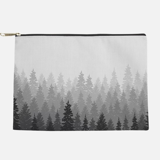 Gray Forest Makeup Pouch