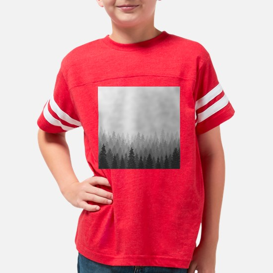 Gray Forest Youth Football Shirt