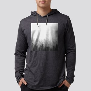 Gray Forest Mens Hooded Shirt
