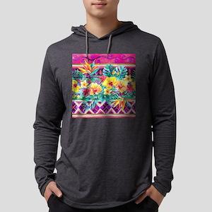 Tropical Watercolor Mens Hooded Shirt