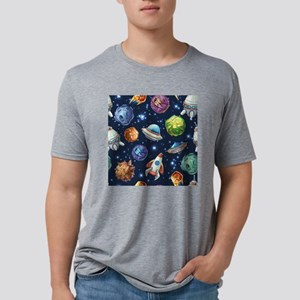 Cartoon Space Mens Tri-blend T-Shirt