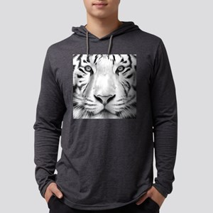 Realistic Tiger Painting Mens Hooded Shirt