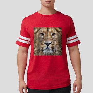Realistic Lion Painting Mens Football Shirt