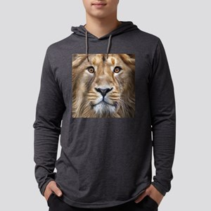 Realistic Lion Painting Mens Hooded Shirt