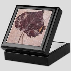 Leaf in Sand Keepsake Box