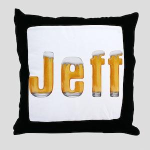 Jeff Beer Throw Pillow