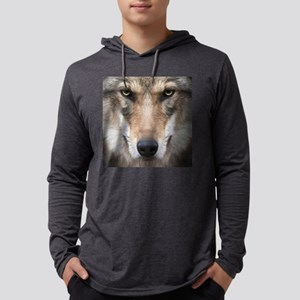 Realistic Wolf Painting Mens Hooded Shirt