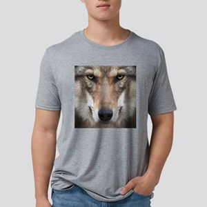 Realistic Wolf Painting Mens Tri-blend T-Shirt