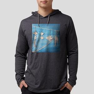 Summer Fishing Mens Hooded Shirt