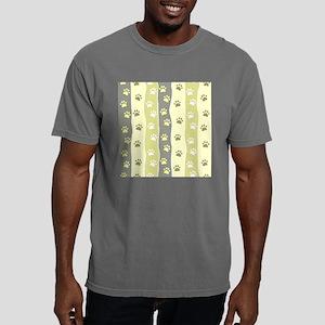 Cute Paw Prints Mens Comfort Colors Shirt
