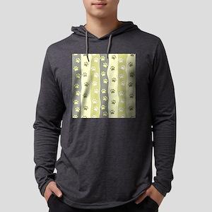 Cute Paw Prints Mens Hooded Shirt