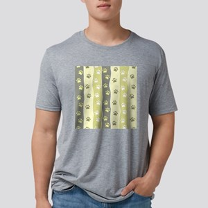 Cute Paw Prints Mens Tri-blend T-Shirt