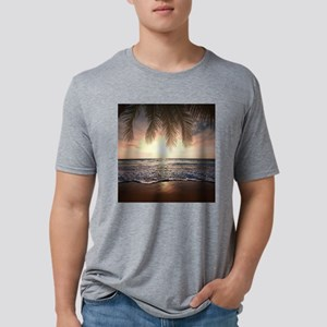 Tropical Beach Mens Tri-blend T-Shirt