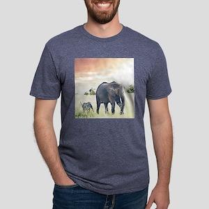 Elephants Mens Tri-blend T-Shirt