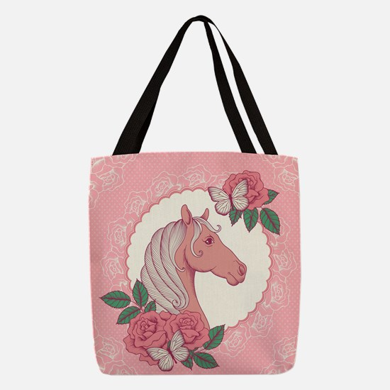 Cute Pony Polyester Tote Bag