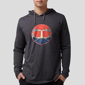 Lighthouse Mens Hooded Shirt