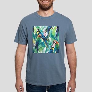 Colorful Parrots Mens Comfort Colors Shirt