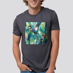 Colorful Parrots Mens Tri-blend T-Shirt