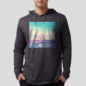 Eiffel Tower Mens Hooded Shirt