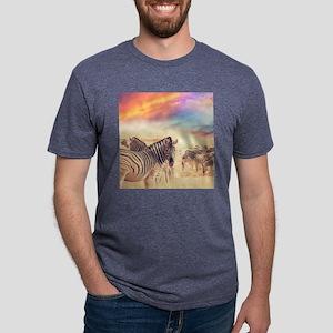 Beautiful Zebras Mens Tri-blend T-Shirt