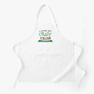 I Love My Crazy Italian Family Apron