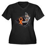 Hope Multiple Sclerosis Women's Plus Size V-Neck D