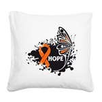 Hope Multiple Sclerosis Square Canvas Pillow