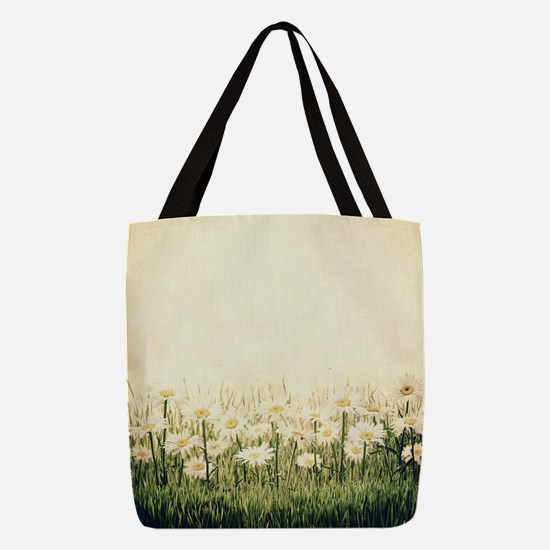 Rustic Daisies Polyester Tote Bag