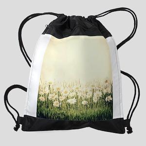 Rustic Daisies Drawstring Bag