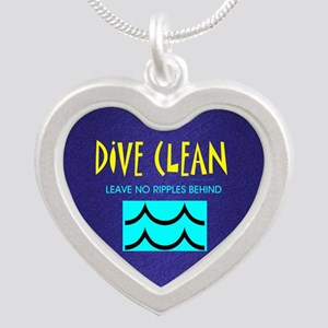 Dive Clean Silver Heart Necklace