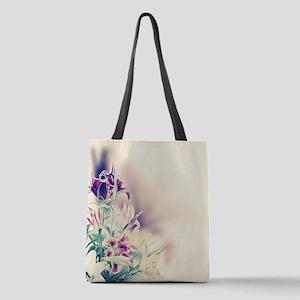 Vintage Flowers Polyester Tote Bag