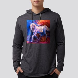 Horse Painting Mens Hooded Shirt