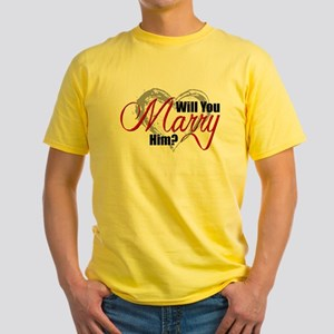 Will You Marry Him? Yellow T-Shirt