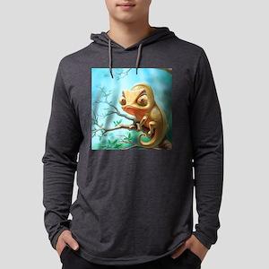 Cute Chameleon Mens Hooded Shirt
