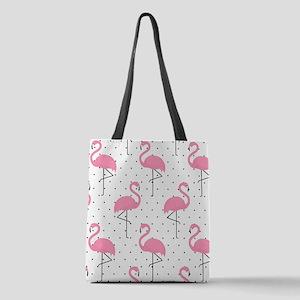 Cute Flamingo Polyester Tote Bag